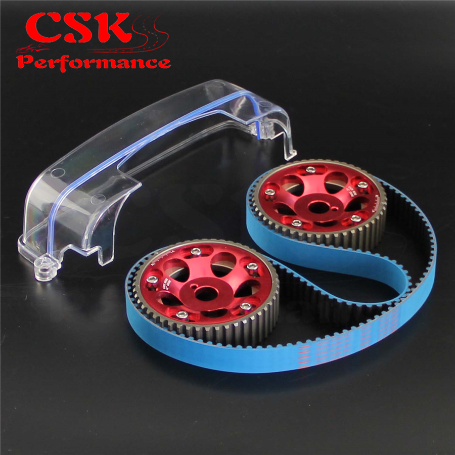 Hot Sale Timing Belt Cam Cover Gear Pulley Kit Fits For Toyota Mark Iv 2jz Gte Purple Red Blue