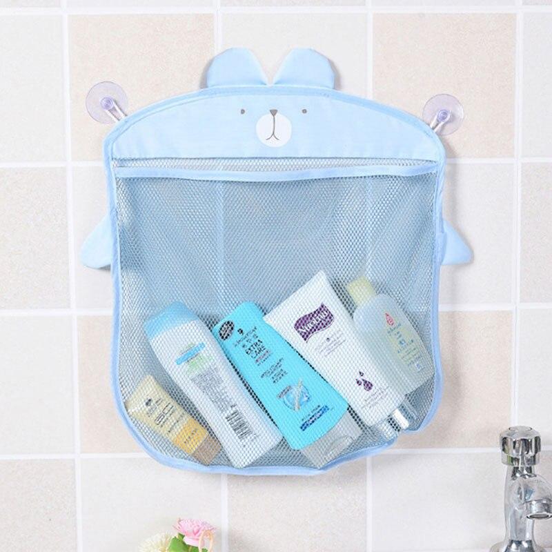 Cartoon Cute Bathroom Hanging Storage Basket Baby Kids Bathing Toy Storage Organizer Bathroom Folding Mesh Basket