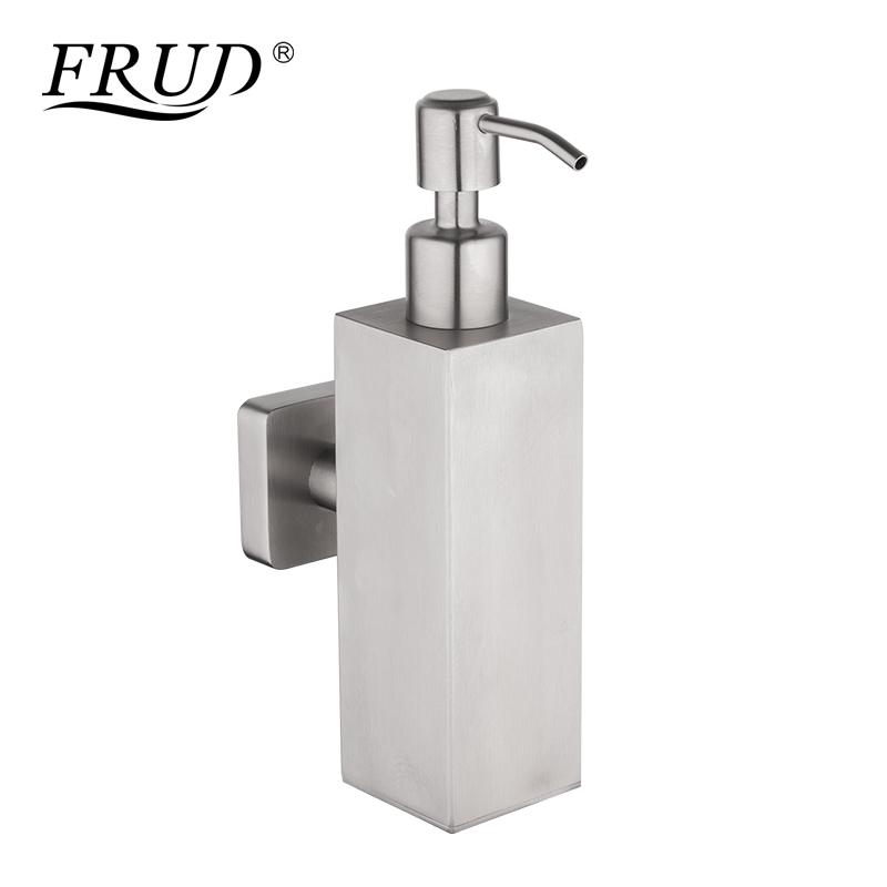все цены на FRUD New Liquid Soap Dispensers Pump Hand Wall Mounted for Kitchen Stainless Steel Shower Lotion Soap Holder for Bathroom онлайн
