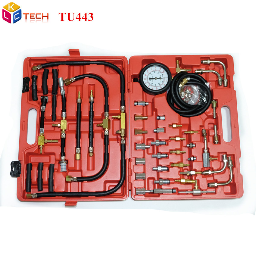 DHL TU443 Universal Automotive TU 443 Deluxe Manometer Fuel Pressure Gauge Engine Testing Kit Fuel Injection