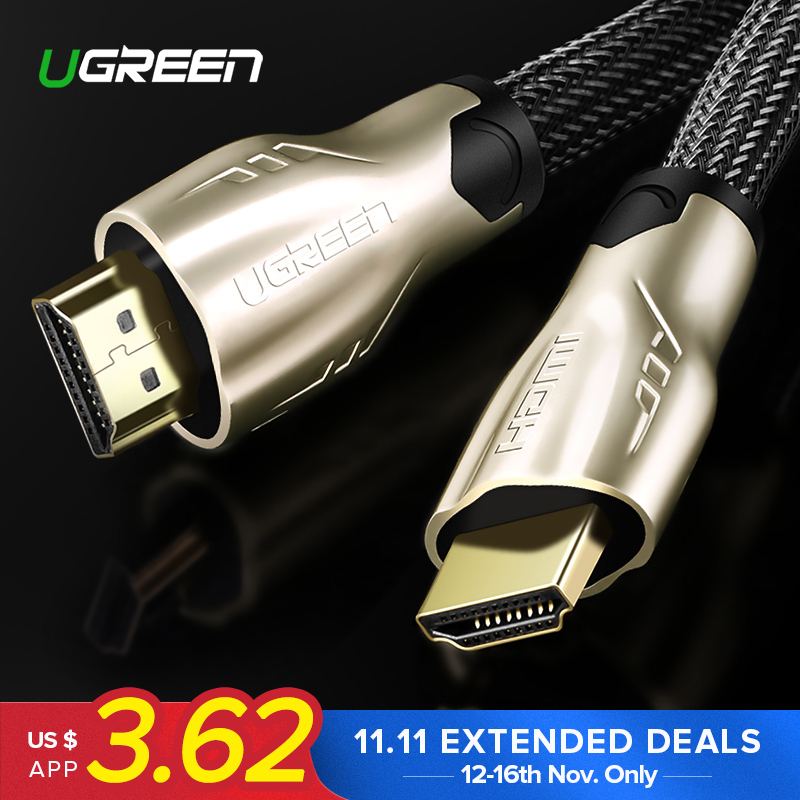 Ugreen HDMI Cable HDMI to HDMI 2.0 Cable 4K for Xiaomi Projector Nintend Switch PS4 Television TV Box xbox 360 5m 10m Cable HDMI цены