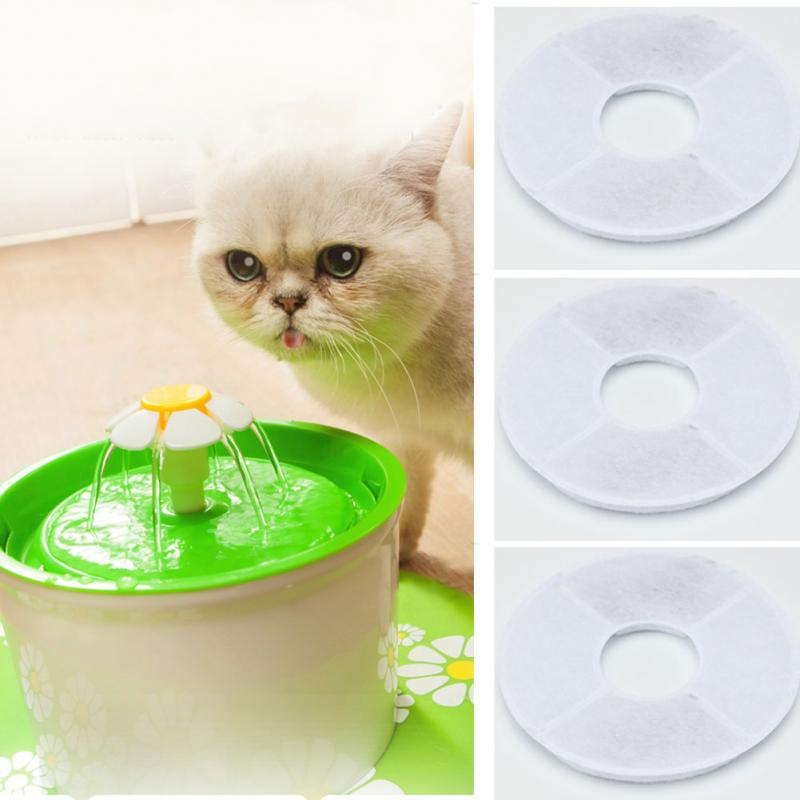 4pcs Charcoal Carbon Filter Activated For 1.8l Led Automatic Cat Dog Kitten Water Drinking Fountain Pet Bowl Drink Dish Filter