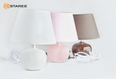 ESTARES Home Table Lamp AT09360 coffee/pink/white