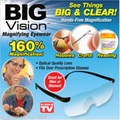 2016 New Big Vision plastic glasses 250 /160 degrees Magnifying Eyewear That Makes Everything Bigger and Clearer