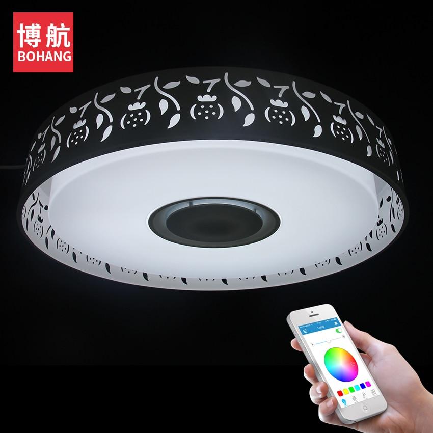 24 Watt LED Deckenleuchte Musik APP Steuer RGB Dimmbare Moderne Deckenleuchten Wohnzimmer Schlafzimmer Studie Geeignet