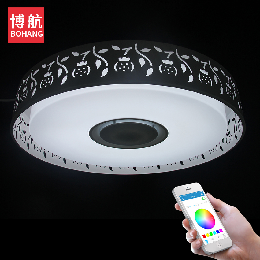 24W LED ceiling light music APP control RGB dimmable  modern ceiling lights living room/bedroom study suitable ceiling lamp стоимость