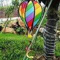 """Arco Iris grande 51 """"Globo Aerostático Kite Wih Hilandero Del Viento de Cola Para Decoración de Jardín Al Aire Libre Del Juguete Del Cabrito"""