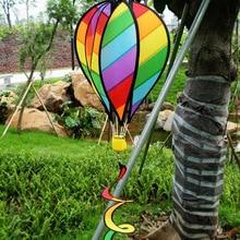 Large Rainbow 51 Hot Air Balloon Kite Windsock Wind Spinner Tail Garden Yard Lawn Decor Outdoor
