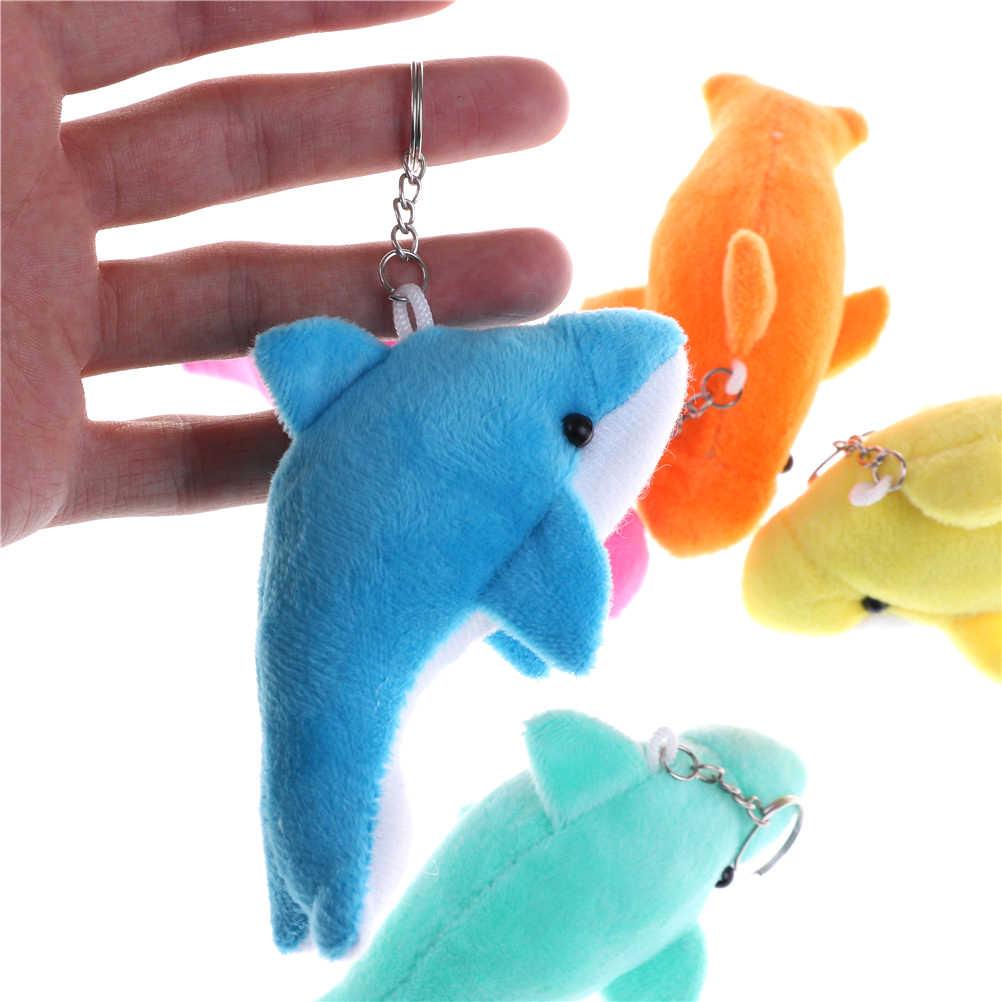 1 шт. 10 см украшение для букета плюшевое игрушечное животное игрушки цвет случайно Kawaii Мини чучело дельфина игрушка брелок с игрушкой свадебный подарок