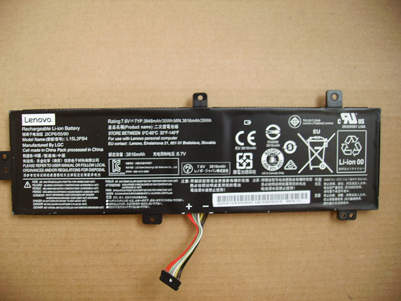 L15L2PB4 7.6V 3948MAH 30WH Genuine Original Laptop Batteries For LENOVO L15L2PB5 7.72V 5055mAh/39Wh
