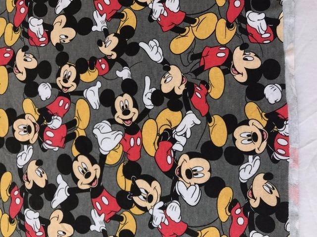 23b5dbe21c9 50*170cm mickey elasticity cotton knitted fabric Coat warmer thicker  printed baby boy girl diy fabric