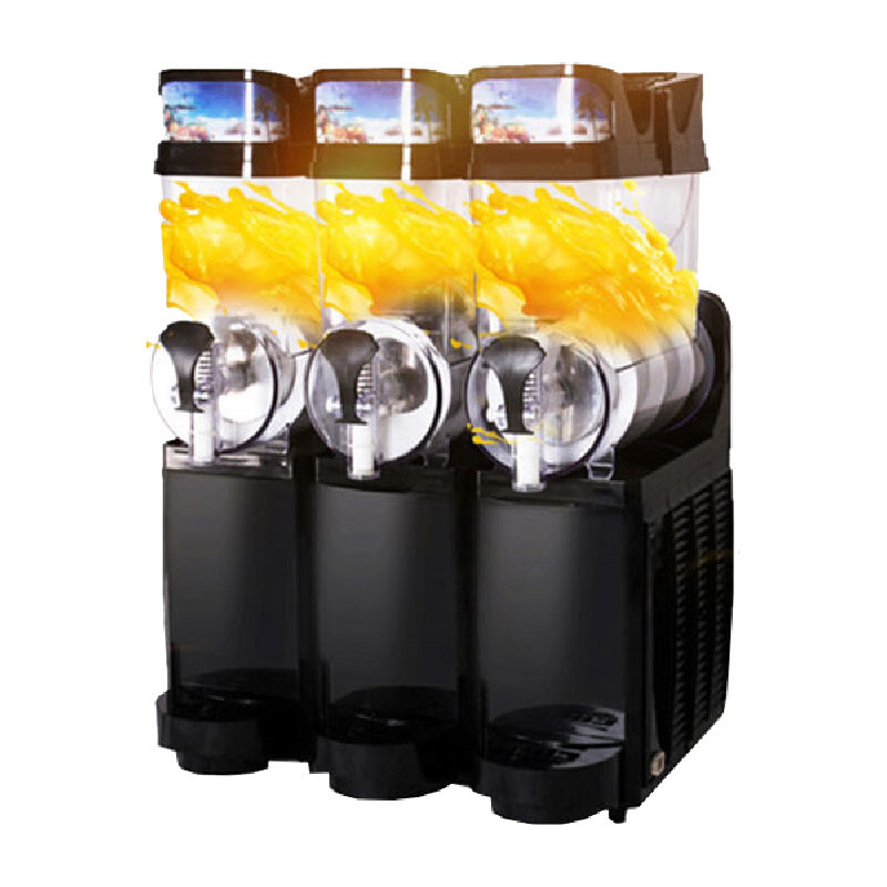 Jamielin 3 Tanks Snow Melting Machine Slush Ice Making Machine Slush Puppies Smoothie Machine