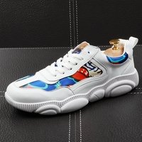CuddlyIIPanda 2019 Men Fashion Casual Shoes Spring Summer Autumn Bear Bottom Shoes Male Lace Up Breathable Print Youth Sneakers