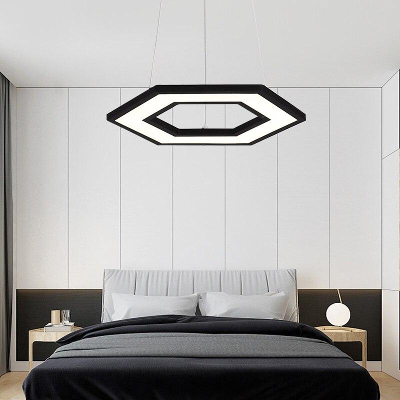 VEIHAO 2018 New White Black Modern Led Pendant lights Restaurant Kitchen Coffee House Hanging Lamps Bar AC110-250V Pendant lamp