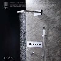 Блаватская латунь термостатический Ванная комната воды смеситель настенный монтаж панель для душа Набор кран torneira banheiro HP2209
