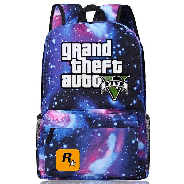 New Fashion Grand Theft Auto მამაკაცის ტილო - ზურგჩანთა - ფოტო 6