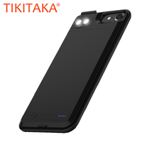 6000mAH Battery Charger Case For iPhone 6 6s Plus 7Plus 8Plus Cover 5.5 with External Selfie LED Light Charging Case Power Bank