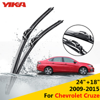 YIKA 24 18 For Chevrolet Cruze 2009 2015 Windscreen Wiper Car U Type Glass Rubber Windshield