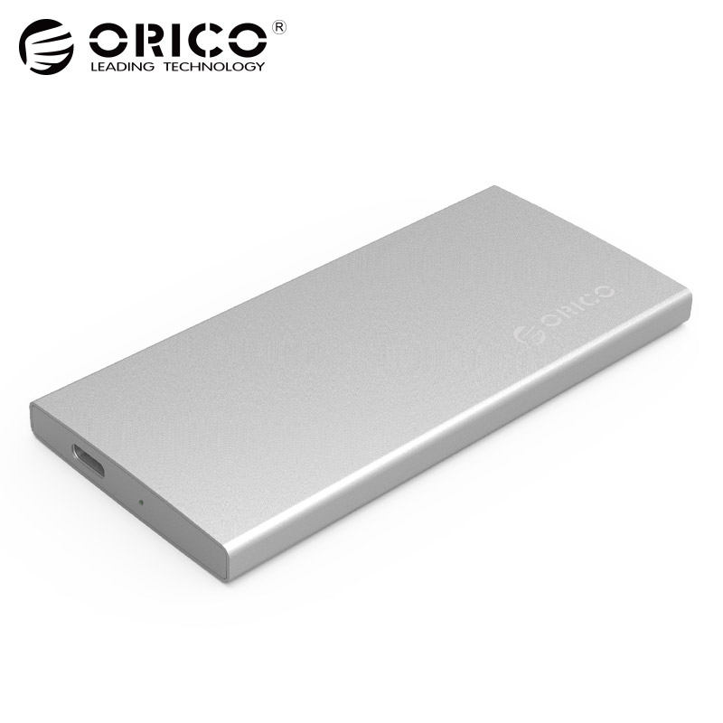 ORICO Aluminum Dual-bay USB3.1 TYPE-C Gen2 10Gbps External Hard Drive Enclosure Support RAID 0 PM Mode with TYPE-C to C Cable orico 9528ru3 dual bay 3 5 usb3 0 sata hard drive enclosure with raid
