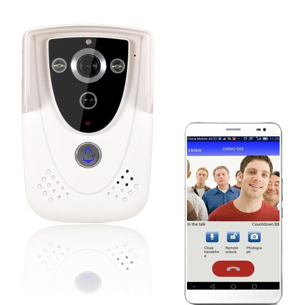 Free shipping Access Control DoorBell Wireless WiFi Video font b Door b font Phone Home Intercom