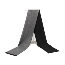 High quality cashmere Solid Grey black Navy men's boutique plaid striped scarfs patchwork color 30x180cm wholesale retail 2017 wholesale bathroom faucet black solid brass bathroom solid basin crane cold and hot water mixer single handle hole tap