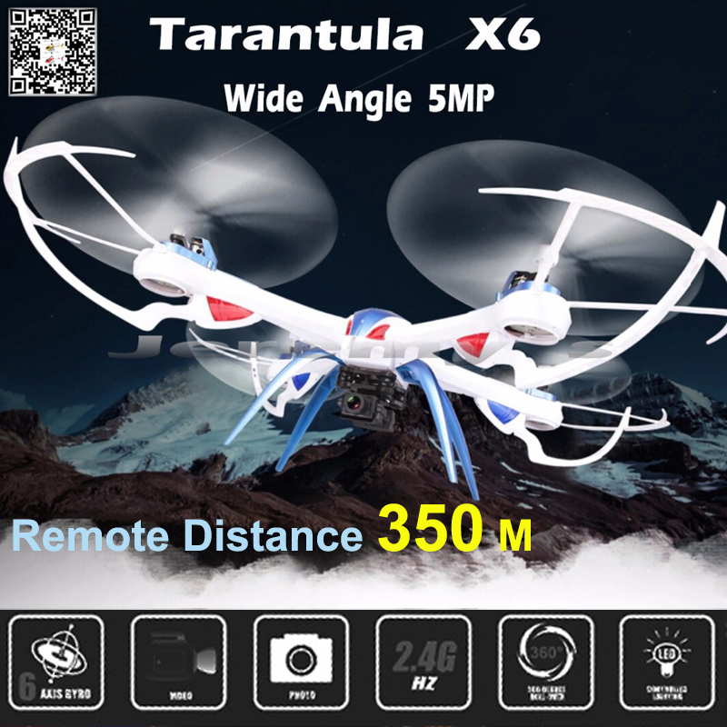 ФОТО Tarantula X6 Big Quadcopter Drones With Camera HD Dron 5MP / 2MP Wide Angle 2.4Ghz 4CH 6-Axis RC Helicopter