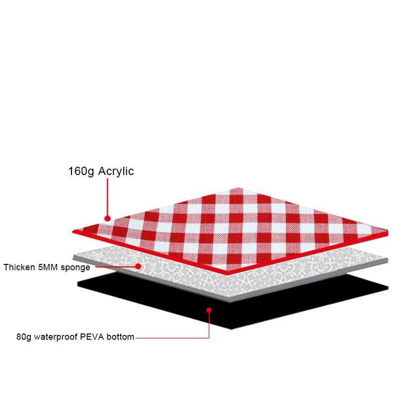 Engrossar almofada respirável cobertor macio para dobrável