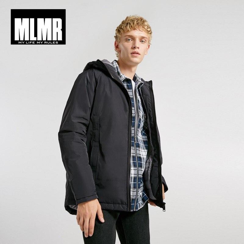 JackJones Men's Hooded Parka Coat Long Padded Jacket Coat Fashion Menswear Basic 218309529