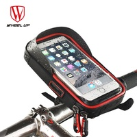 WHEEL UP Bike Bicycle Cycling Phone Bag Handlebar Waterproof TPU Touchscreen Cellphone Holders Bags MTB Pouch With Earphone Hole