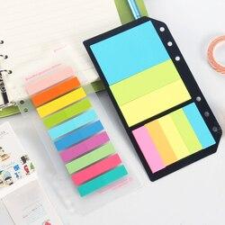 Clássico bloco de notas portátil conjunto de papelaria, colorido de papel índice sticky notes para o planejador caderno espiral escola escritório