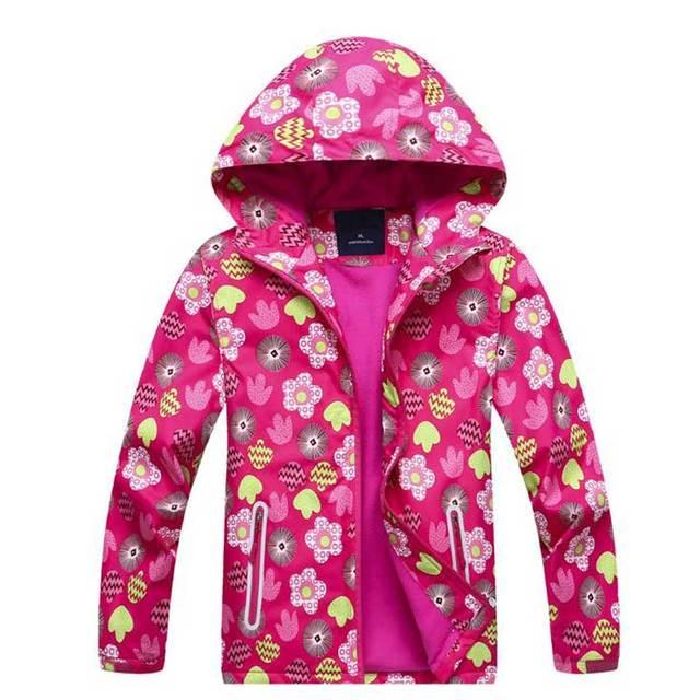 49008522d440 Весенняя ветровка для девочек, куртка, розовый флисовый плащ, модная детская  верхняя одежда,