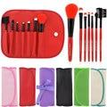 Woman's 7 Pcs Make Up Brushes Pincel Maquiagem Professional Superior Soft Cosmetic Makeup Brush Set Kit + Pouch Bag Case W1S1