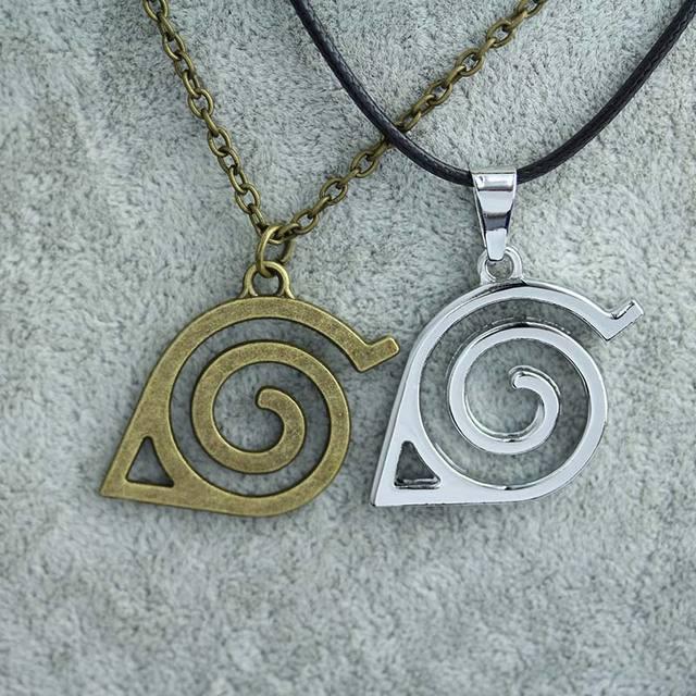 2 Colors Leaf Symbol Necklace Cosplay