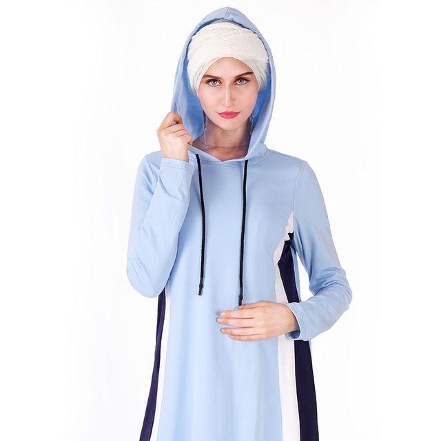 Cotton Abaya Hooded Dresses, Sport Long Dress, Turkey Fashion