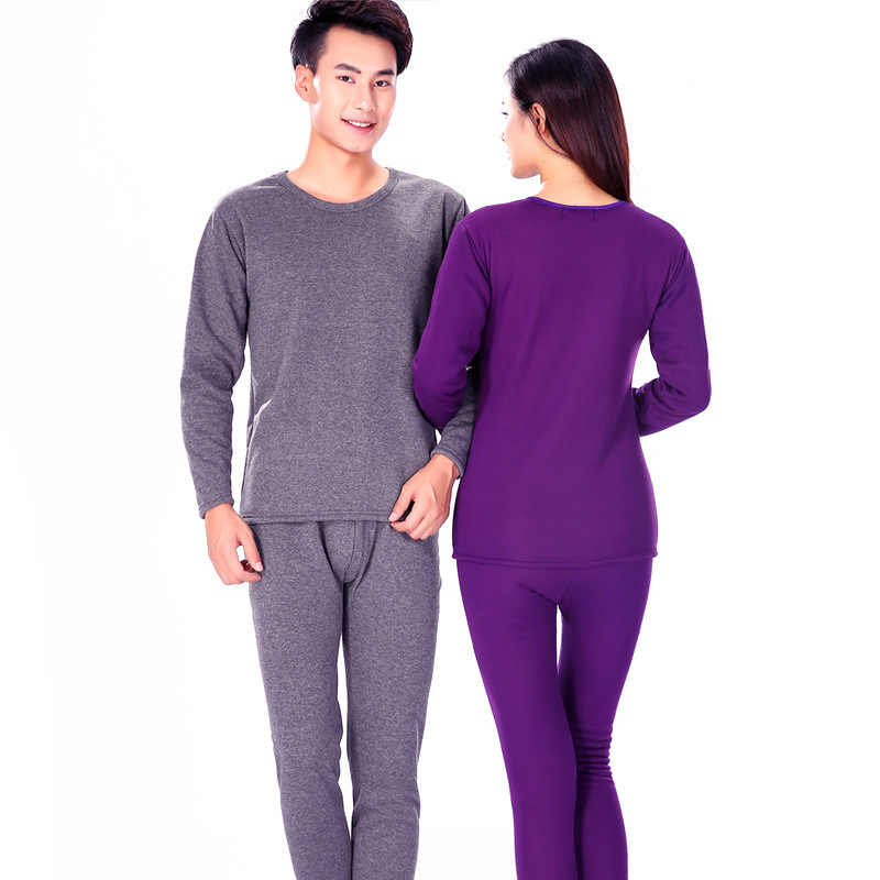 ... Winter Couple Warn Thermal Underwear Set For Women Men Layered Clothing  Cashmere Velvet Thick Thermal Long ... 40eba6e5c