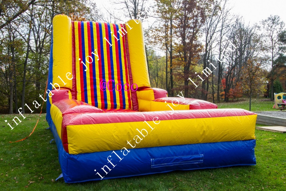 Free Air Shipping To Door!5*3*3.5mh Inflatable Jump Wall,commerical Used Inflatable Climbing Wall With Suits Inflatable Bouncers