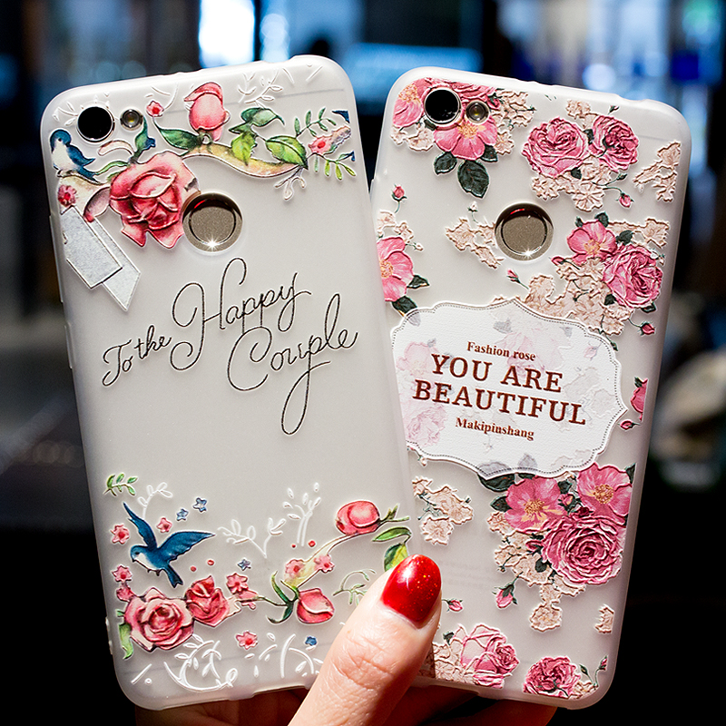 3D Relief Flowers Cover For Xiaomi Redmi