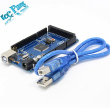Freeshipping Mega 2560 R3 Mega2560 REV3 ATmega2560-16AU Board + USB Cable compatible for  arduino Mega 2560 r3