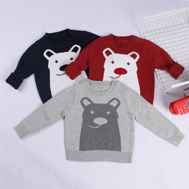 INS ropa del bebé lindo suéter de tejido de punto de Algodón Niños ...