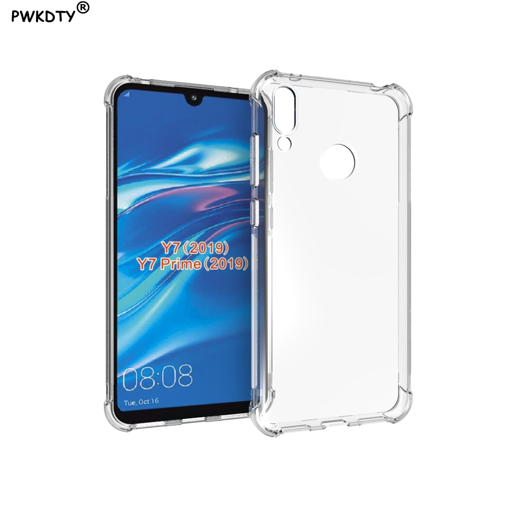 nuovi stili b2664 46f24 Huawei Y7 2019 Case Soft Silicone Transparent TPU Back Cover ...