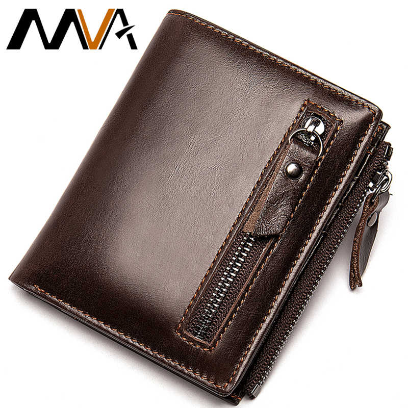Luxury Soft Genuine Leather Mens Wallet Zip ID Card Cash Purse with Coin Pocket