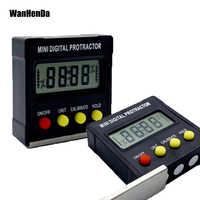360 Degree Mini Digital Protractor Inclinometer Electronic Level Box Magnetic Base Measuring Tools Angle ruler