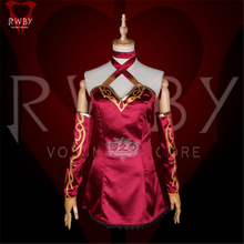 Animation RWBY Season4 Cinder Fall Cosplay Costume Red Sexy Dress B cinder
