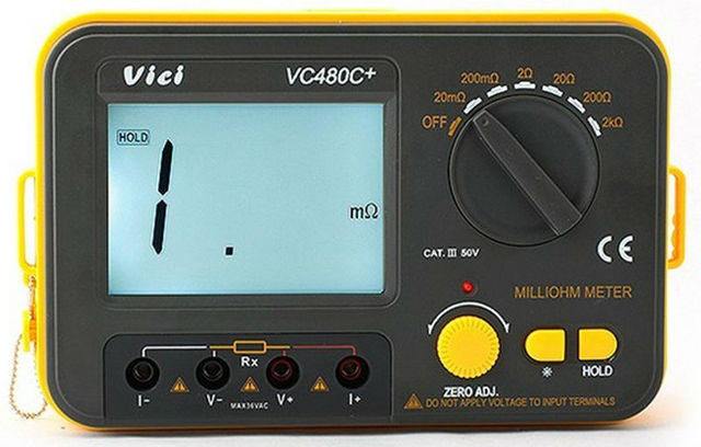 Ohmmeter To Measure Ohms : Digital milli ohm meter accuracy wire test