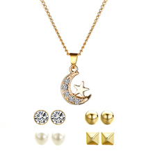 Fashion Women Jewelry Sets Necklace & Earrings For Woman Charm Long Pendant