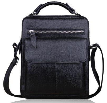 Free shipping men's first layer of leather shoulder bag leisure bag genuine leather messenger bag handbag trend