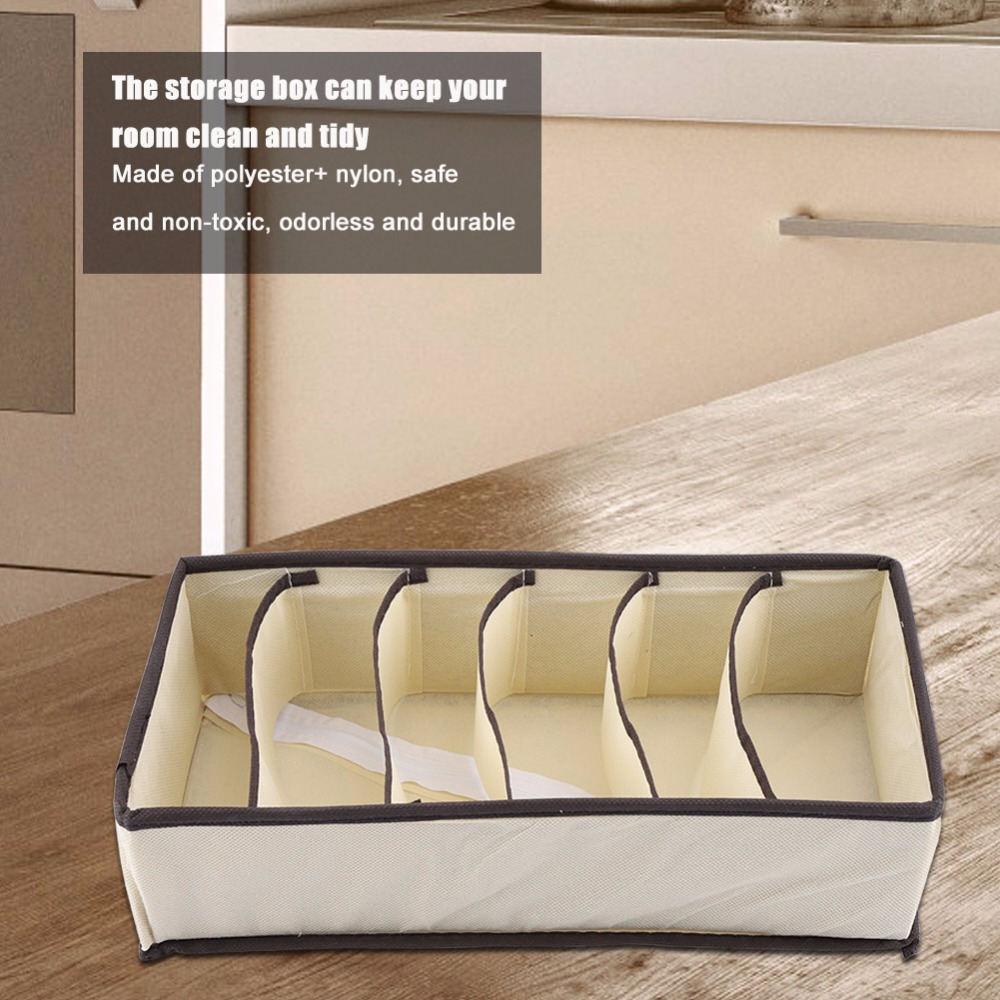 boxes:  Modern Style Home Storage Boxes Portable Foldable Durable Divider Storage Box Case Container for Bra Underwear Sock - Martin's & Co