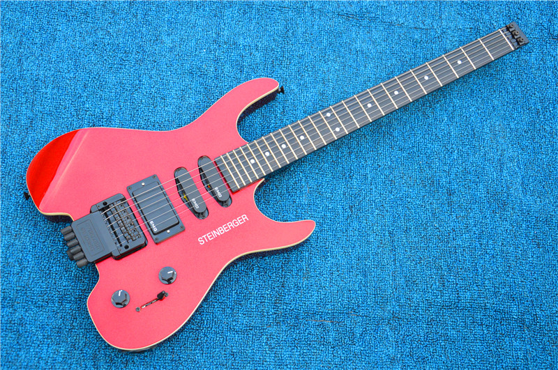 Free shipping Wholesale the best selling models STEINBERGER Headless electric guitar in red color