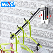 WEYUU Indoor and Outdoor Rotating Coat Hook Toilet Stainless Steel Clothes Hook Wall Mount  Bathroom Accessories baianle bathroom stainless steel clothes hook wall mount indoor and outdoor rotating coat hook bathroom accessories