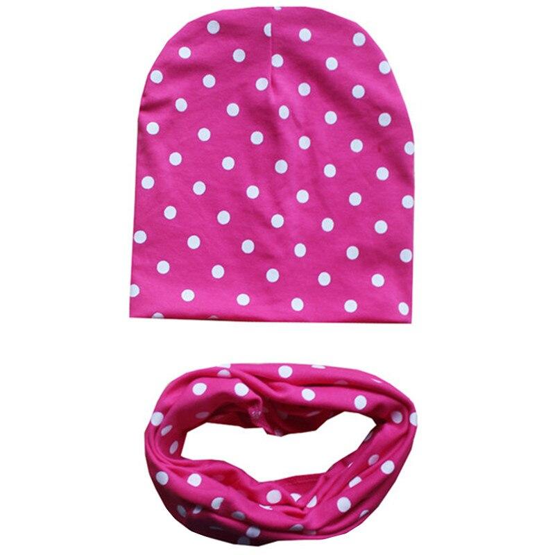 New Love Solid Style Crochet Children Hat Scarf Autumn Winter Girls Boys Caps Baby Kids Cotton Hat Scarf Set Child Cap Baby Caps